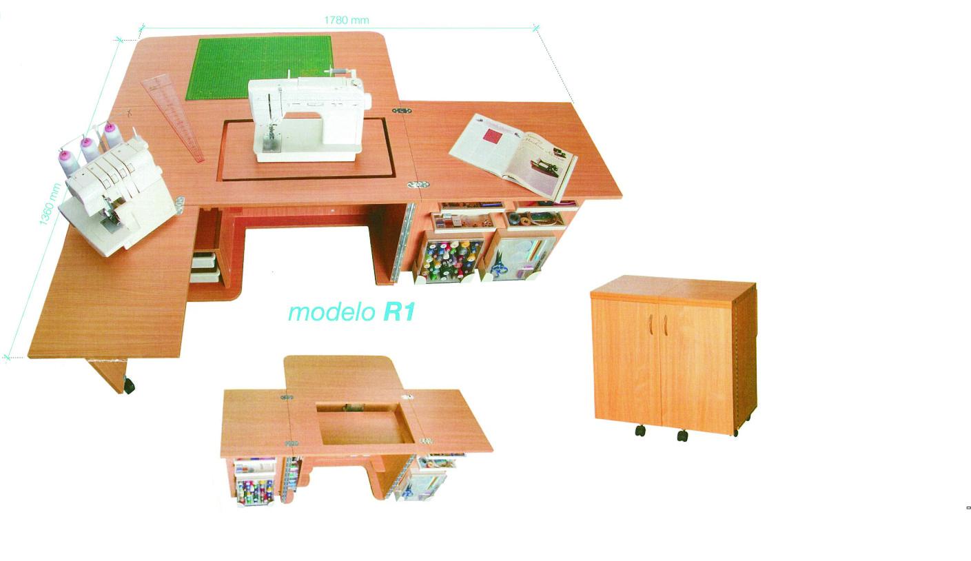 Muebles m quina de coser la rueca patchwork su tienda for Muebles de costura