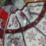 Cuadrados en rojo y plata