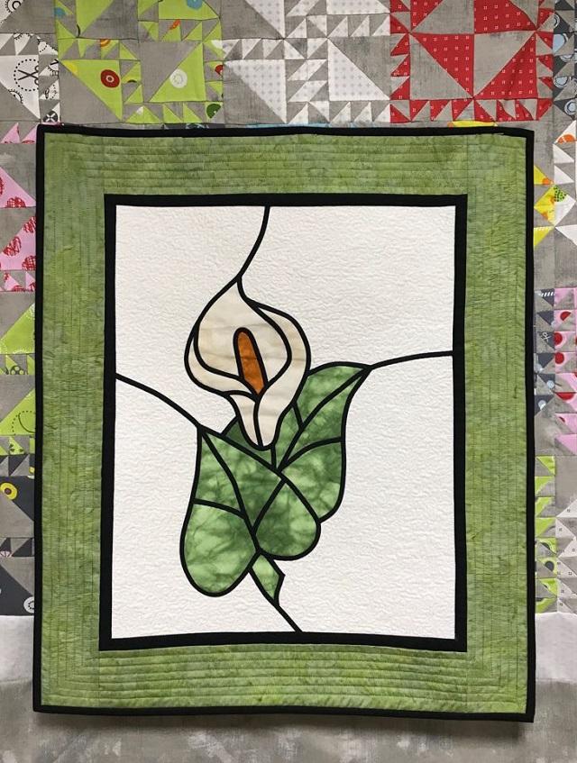 Vidriera Floral en Patchwork